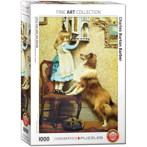 Little Girl and Her Sheltie - 1000 Piece Jigsaw Puzzle