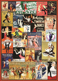 Ballroom Dancing - Vintage Posters Collage - 1000 Piece Jigsaw Puzzle