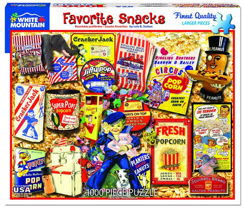 Favorite Snacks - 1000 Piece Jigsaw Puzzle