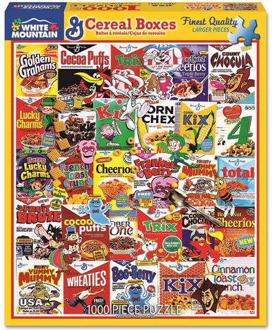 Cereal Boxes - 1000 Piece Jigsaw Puzzle