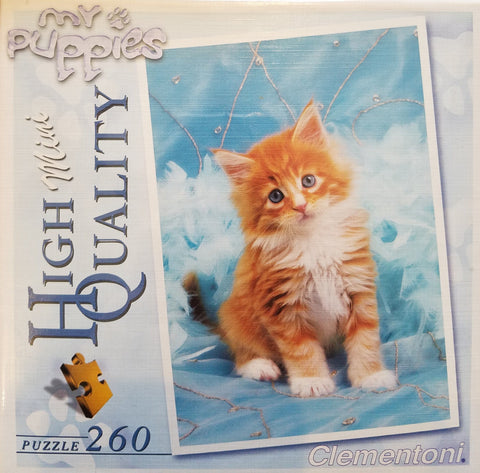 Fluffy Kitten - 260 Piece Jigsaw Puzzle