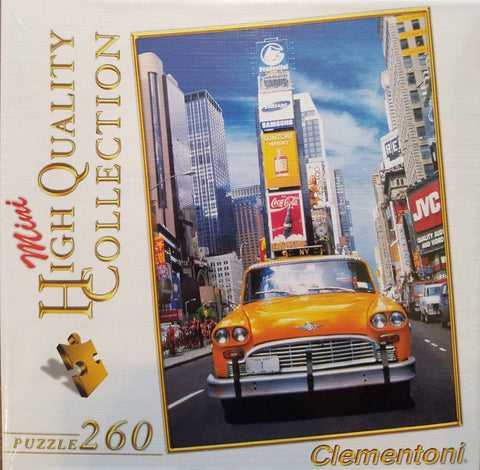 Taxi in Times Square - 260 Piece Jigsaw Puzzle