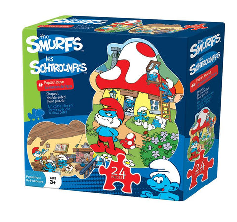 The Smurfs - Papa's House - 24 Piece Shaped Double Sided Floor Jigsaw Puzzle