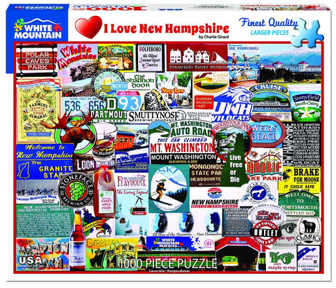 I Love New Hampshire - 1000 Piece Jigsaw Puzzle