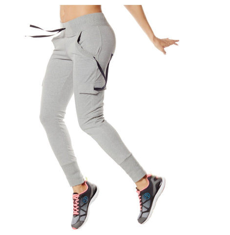 Zumba Fitness Funky French Terry Pants - Thunderin' Gray