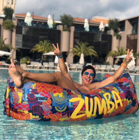 Zumba Fitness Inflatable Lounger