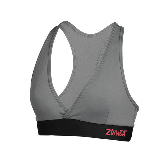 Zumba Fitness Allure V-Bra Top - Gravel (CLOSEOUT)