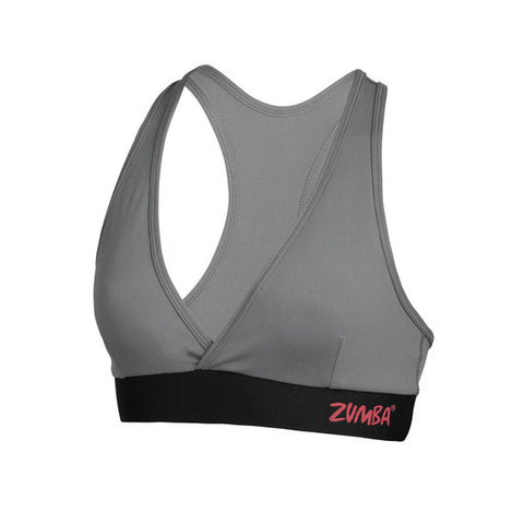 Zumba Fitness Allure V-Bra Top - Gravel