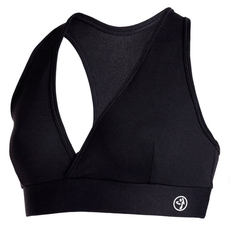 Zumba Fitness Bliss V-Bra Top - Black (CLOSEOUT)