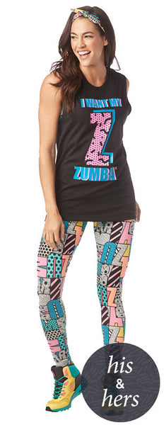 Zumba Fitness I Want My Zumba Muscle Tank - Black
