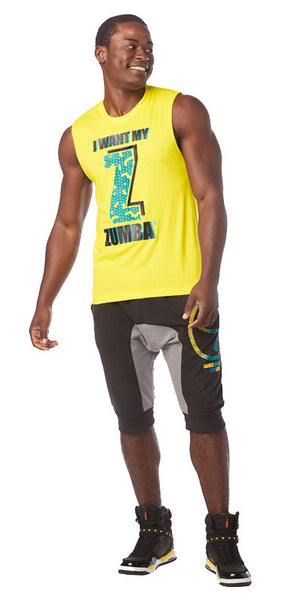 Zumba Fitness I Want My Zumba Muscle Tank - Yellow