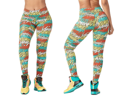 Zumba Fitness Be About Love Perfect Long Leggings - Teal Me Everything