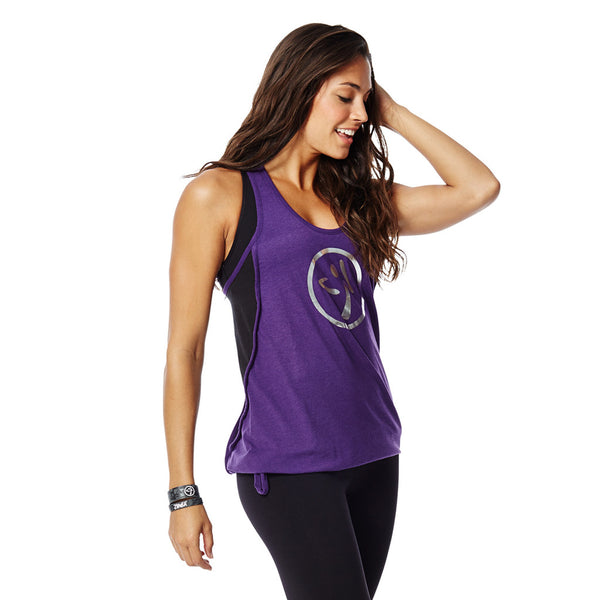 Zumba Fitness Burn It Up Bubble Racerback - Acai