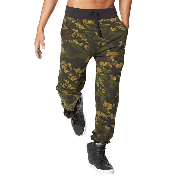Zumba Fitness Camo French Terry Jogger Pants - Safari