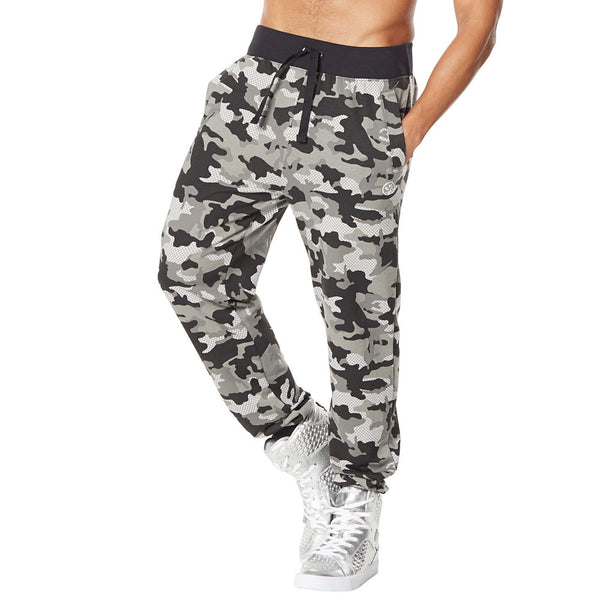 Zumba Fitness Camo French Terry Jogger Pants - Smoke