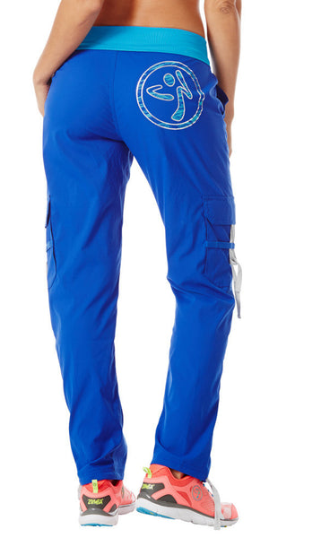 Zumba Fitness Craveworthy Cargo Pants - Surfs Up Blue