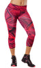 Zumba Fitness Dazzlin' Perfect Capri Leggings - Berry