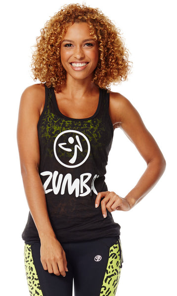 Zumba Fitness Don't Burst My Bubble Tank - Back to Black