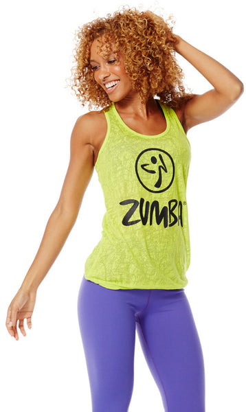 Zumba Fitness Don't Burst My Bubble Tank - Zumba Green (CLOSEOUT)