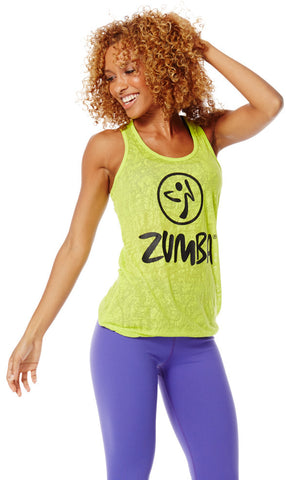 Zumba Fitness Don't Burst My Bubble Tank - Zumba Green