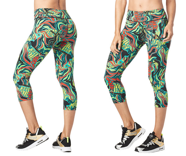 Zumba Fitness Feel Good Perfect Capri Leggings - Teal Me Everything