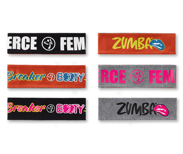 Zumba Fitness Fierce Female Headbands 3 PK
