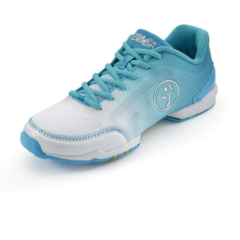 Zumba Fitness Flex Classic Shoes - White Blue Curacao