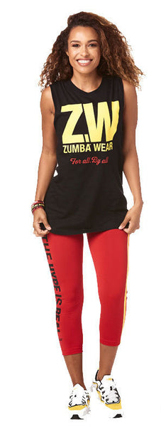 Zumba Fitness Zumba For All Muscle Tank - Black