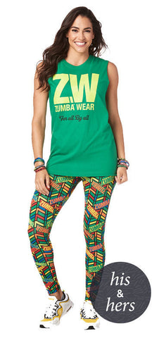 Zumba Fitness Zumba For All Muscle Tank - Green