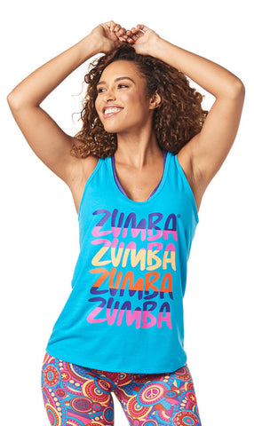 Zumba Fitness Zumba Forever Tank - Sea of Blue
