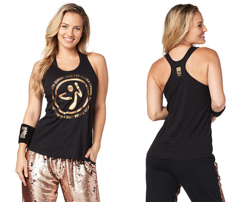 Zumba Fitness For Zumba Lovers Loose Tank - Bold Black