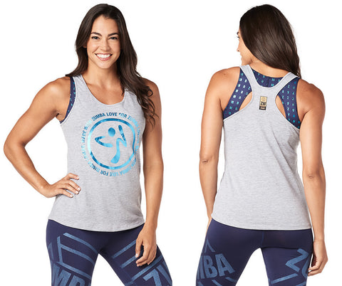 Zumba Fitness For Zumba Lovers Loose Tank - Thunderin Gray