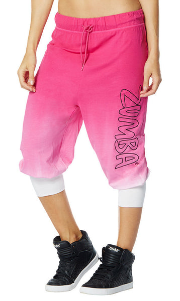 Zumba Fitness Get Faded Baggy Capris - Back to the Fuchsia