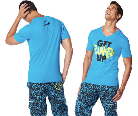 Zumba Fitness Get Funked Up V-Neck - Sea of Blue