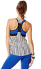 Zumba Fitness Let Loose Striped Racerback - White
