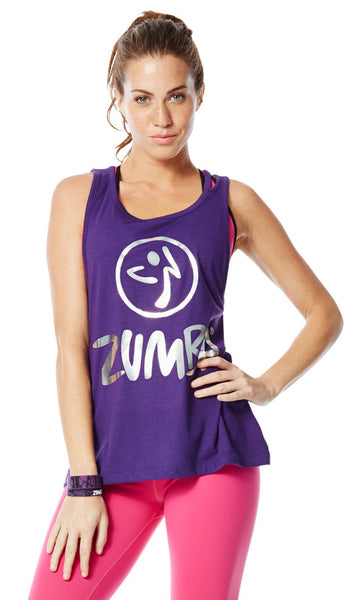 Zumba Fitness Love Me or Loose Me Tank - Acai