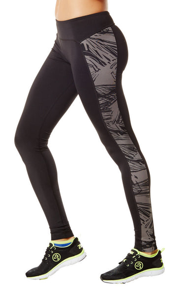 Zumba Fitness Panel Perfect Leggings - Go For Gunmetal