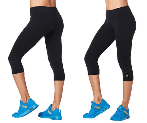 Zumba Fitness Perfect Capri Leggings - Bold Black