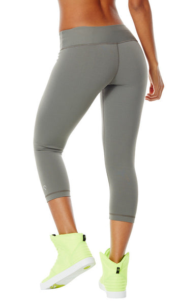 Zumba Fitness Perfect Capri Leggings - Go For Gunmetal