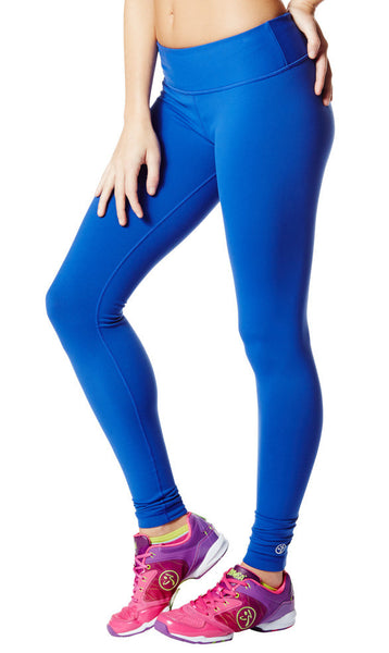 Zumba Fitness Perfect Long Leggings - Surfs Up Blue