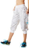 Zumba Fitness Print Perfect Cargo Capri Pants - White