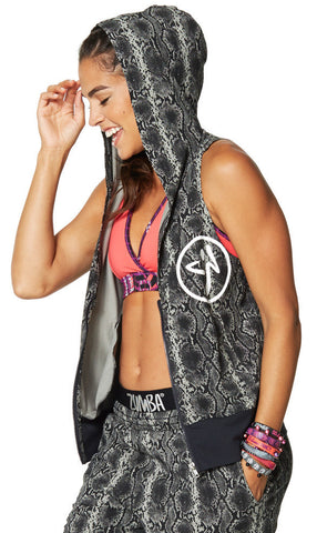 Zumba Fitness Rep My Style Sleeveless Hoodie - Grey Scale