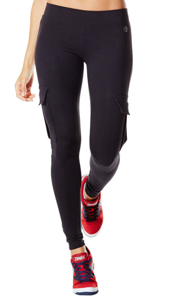 Zumba Fitness Shake-N-Brake Cargo Leggings - Sew Black