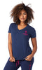 Zumba Fitness STRONG By Zumba Instructor V Neck - Blue Babe