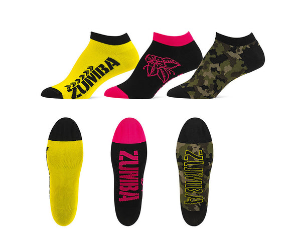 Zumba Fitness Z Army Ankle Socks 3 PK