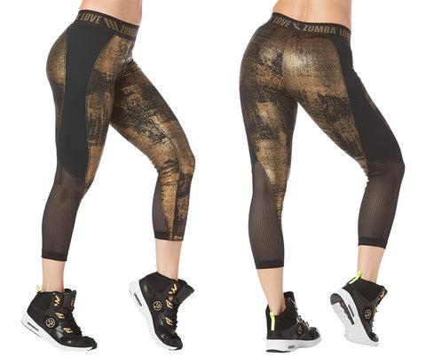 Zumba Fitness Zumba Love Panel Capri Leggings - Bold Black