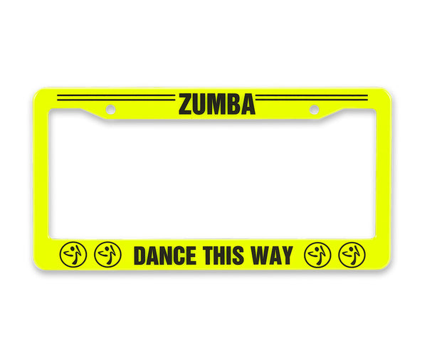 Zumba Fitness Zumba This Way License Plate Cover