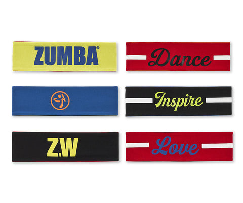 Zumba Fitness Zumba Wear Headbands 3 PK
