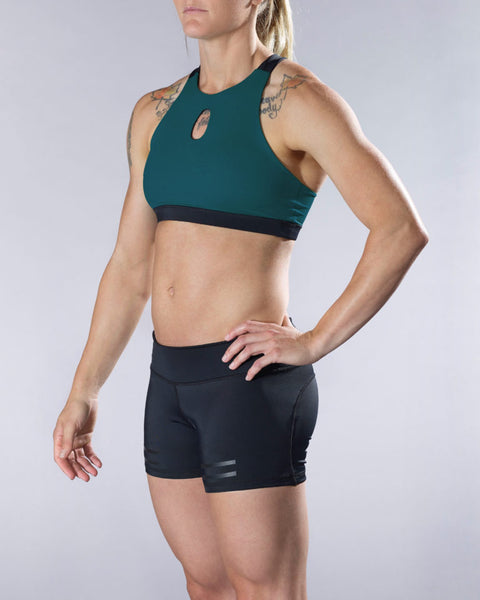 VullSport Compress Shift Sports Bra - Dark Teal