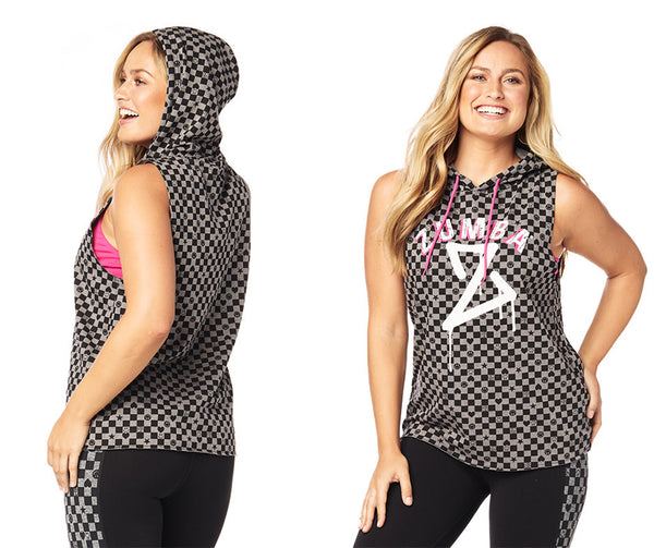 Zumba Fitness Dance Bold Sleeveless Hoodie - Heather Grey